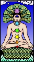 Click for Larger version of The Buddha Tarot Chakra card
