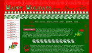 Free Happy Holidays Web Template