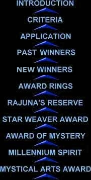 Rajuna's Awards Navigation Panel