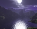 Example 6 Scenic Night Cove Screensaver