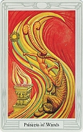 Click to see larger view of Princess of Wands