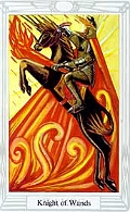 Click to see larger view of Knight of Wands